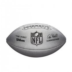 Ballon Wilson NFL The Duke Metallic Edition Silver