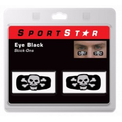 Pro Style Eye Black Decals Skull (10 paires)