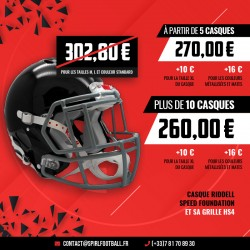 kit club casque Riddell Foundation et sa grille HS4