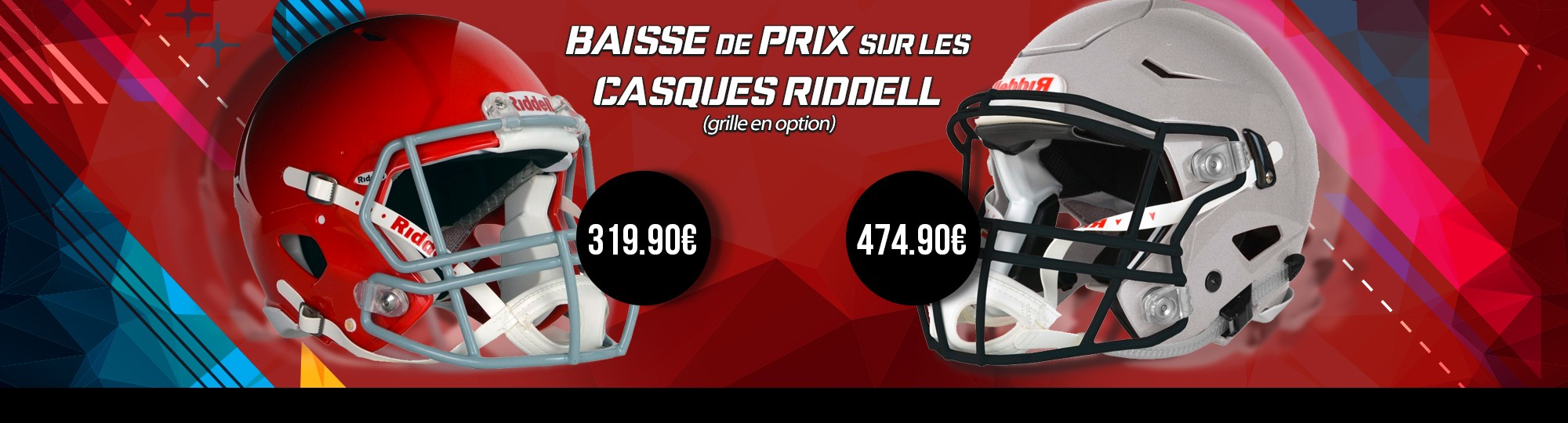 Casques de football américain Riddell Speed et Speedflex